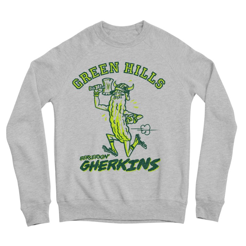 Berserkin' Gherkins Men's Sponge Fleece Sweatshirt by Gimetzco's Damaged Goods