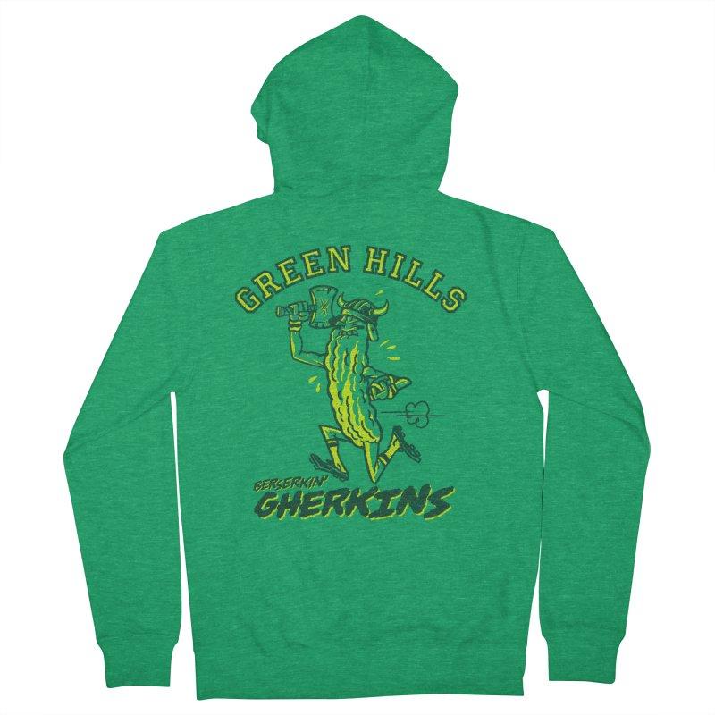 Berserkin' Gherkins Men's Zip-Up Hoody by Gimetzco's Damaged Goods