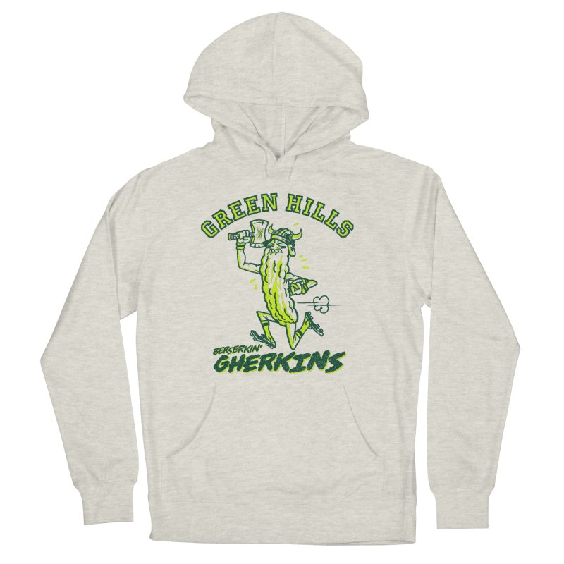 Berserkin' Gherkins Men's French Terry Pullover Hoody by Gimetzco's Damaged Goods