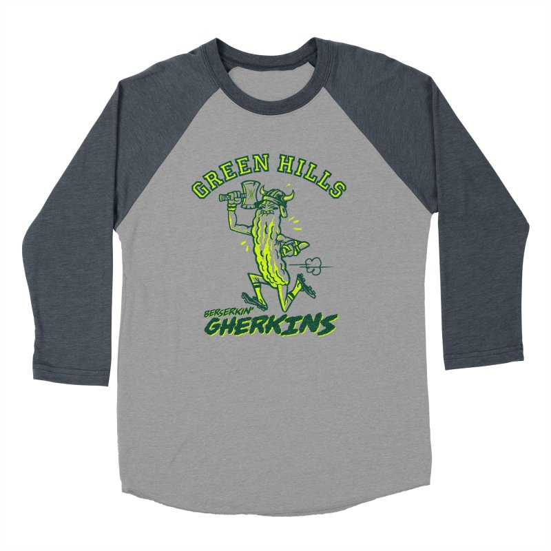 Berserkin' Gherkins Men's Baseball Triblend Longsleeve T-Shirt by Gimetzco's Damaged Goods