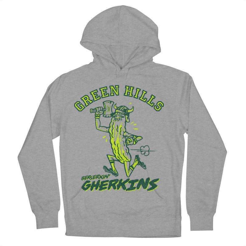 Berserkin' Gherkins Men's French Terry Pullover Hoody by Gimetzco's Damaged Goods