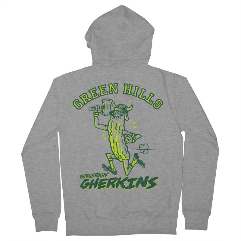 Berserkin' Gherkins Men's French Terry Zip-Up Hoody by Gimetzco's Damaged Goods