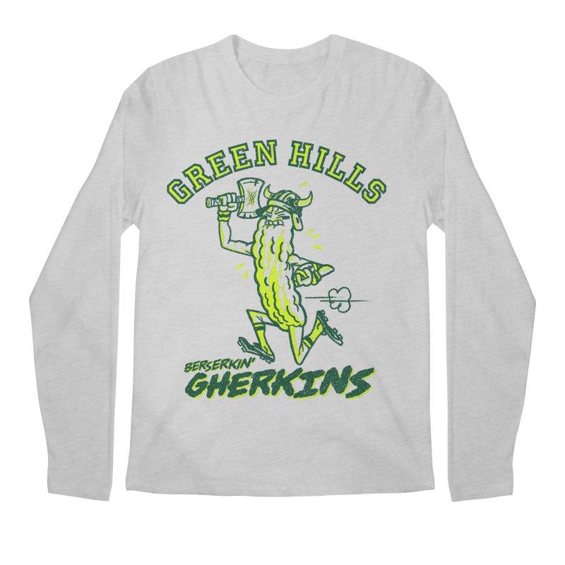 Berserkin' Gherkins Men's Regular Longsleeve T-Shirt by Gimetzco's Damaged Goods