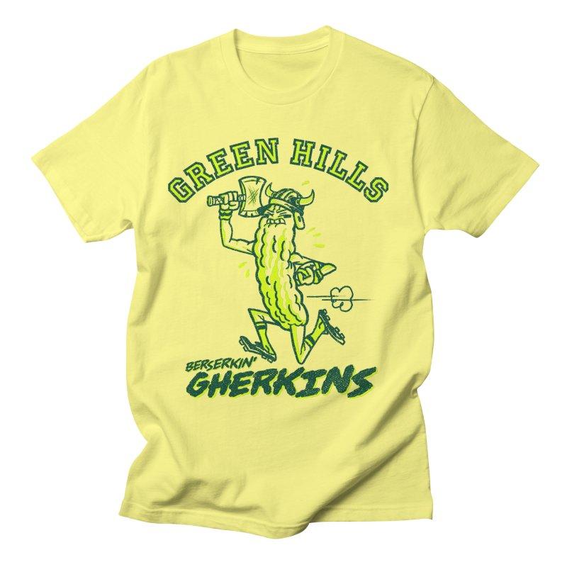Berserkin' Gherkins Women's Regular Unisex T-Shirt by Gimetzco's Damaged Goods
