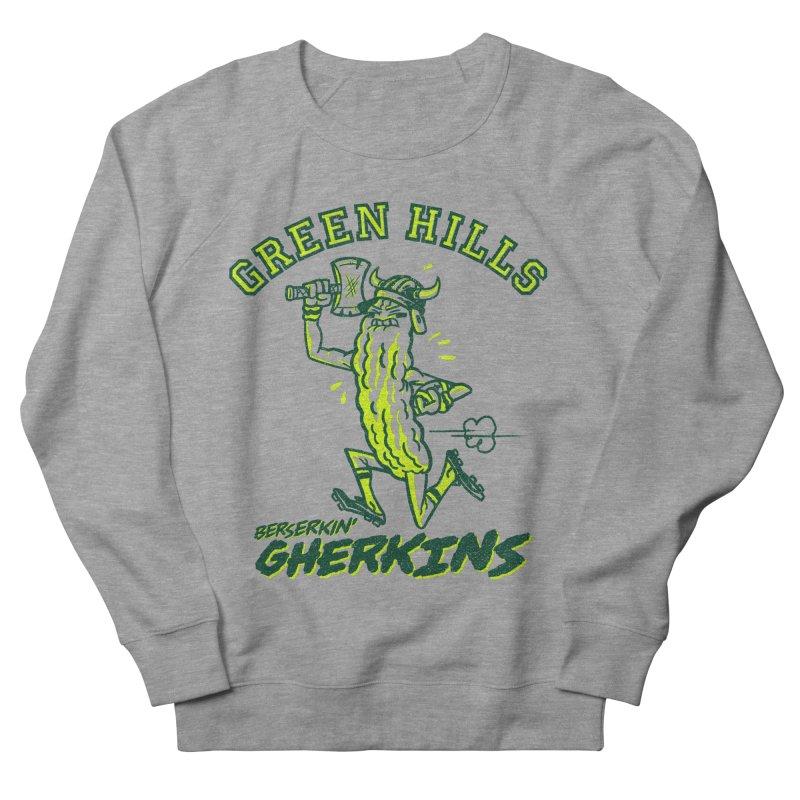 Berserkin' Gherkins Men's French Terry Sweatshirt by Gimetzco's Damaged Goods