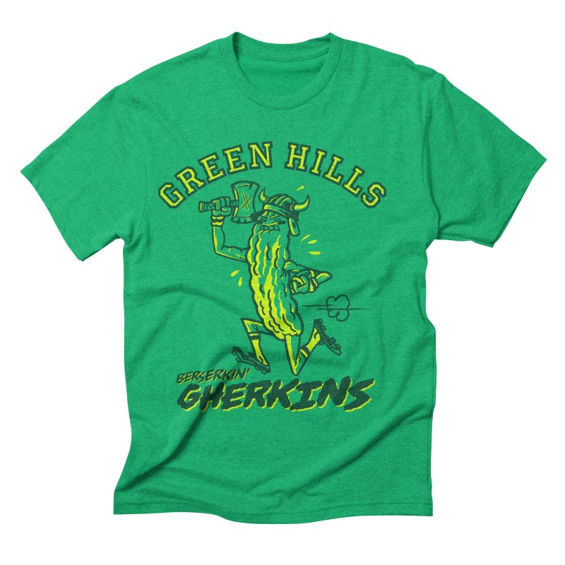 Berserkin' Gherkins Men's Triblend T-Shirt by Gimetzco's Damaged Goods