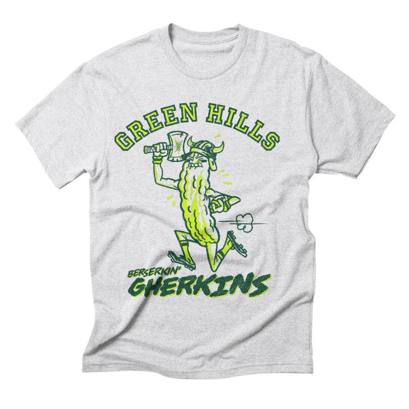 Berserkin' Gherkins Men's Triblend T-Shirt by Gimetzco's Damaged Goods
