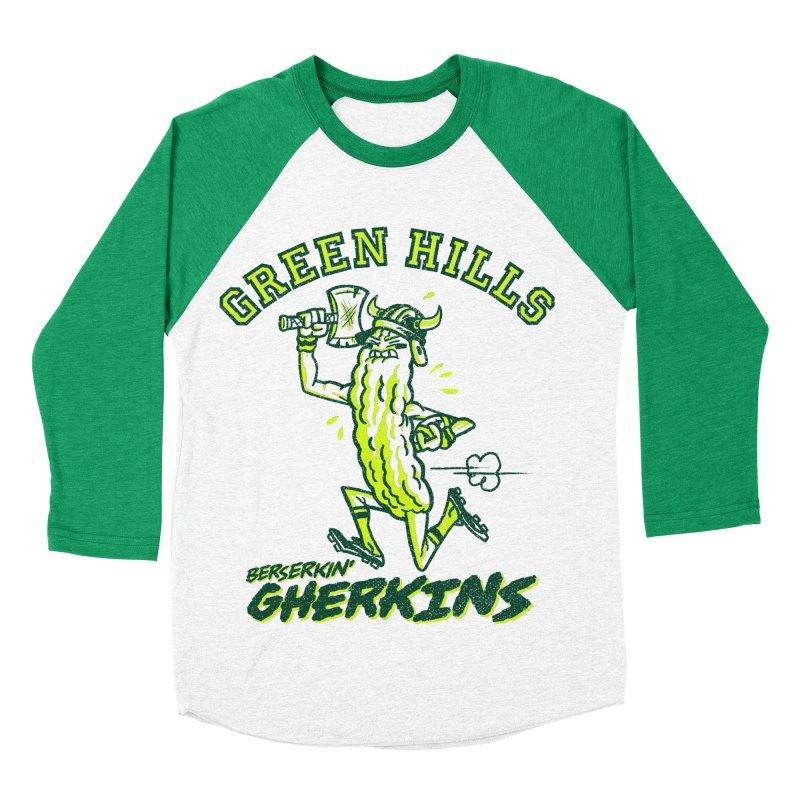 Berserkin' Gherkins Women's Baseball Triblend Longsleeve T-Shirt by Gimetzco's Damaged Goods