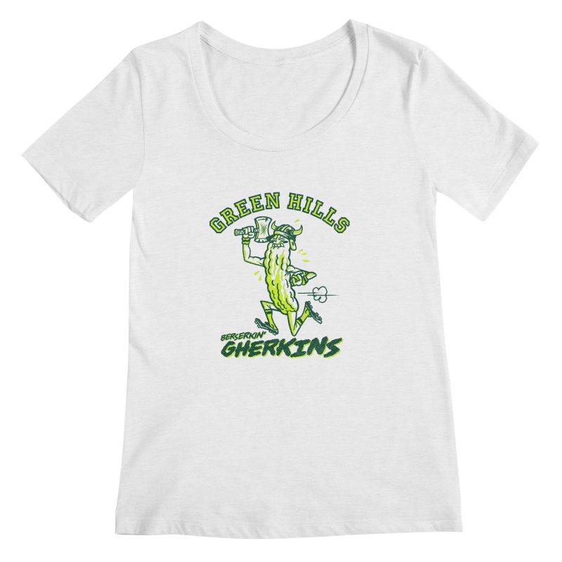 Berserkin' Gherkins Women's Regular Scoop Neck by Gimetzco's Damaged Goods