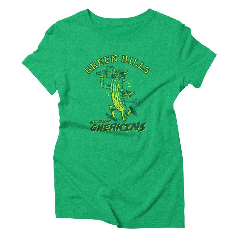 Berserkin' Gherkins Women's Triblend T-Shirt by Gimetzco's Damaged Goods