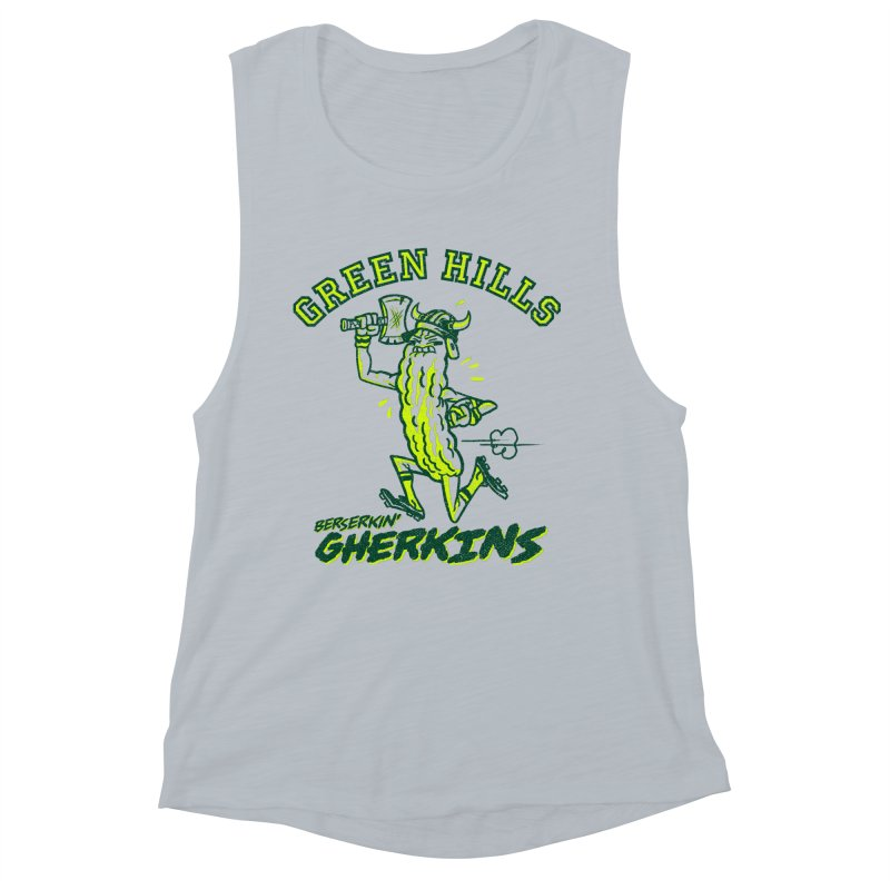 Berserkin' Gherkins Women's Muscle Tank by Gimetzco's Damaged Goods