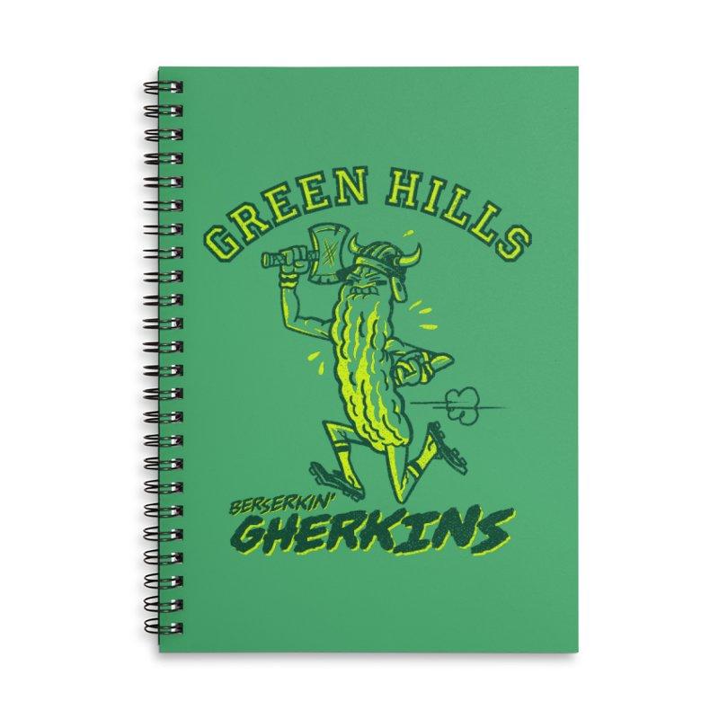 Berserkin' Gherkins Accessories Lined Spiral Notebook by Gimetzco's Damaged Goods