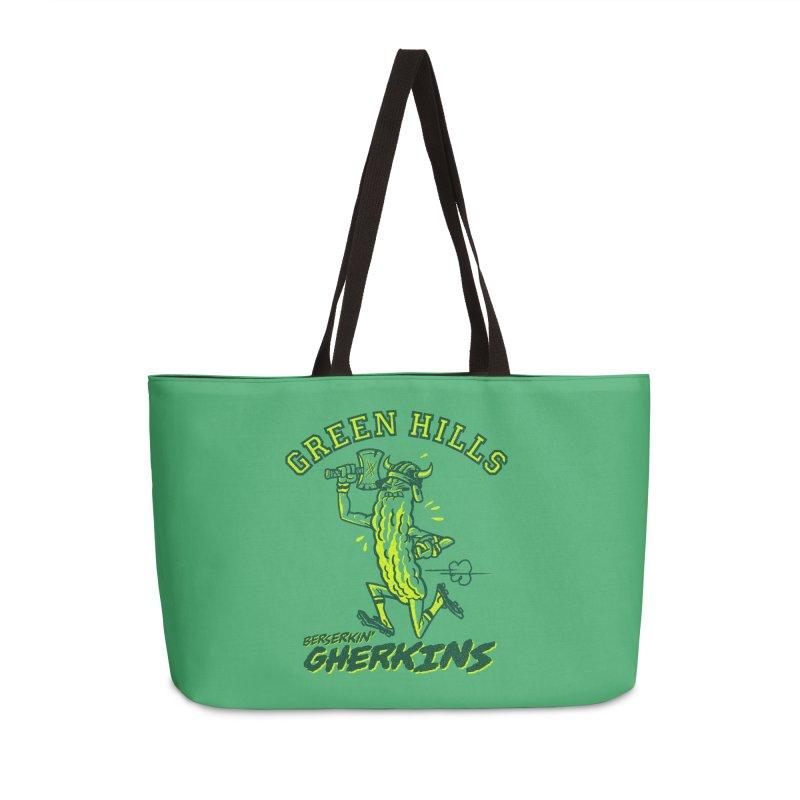 Berserkin' Gherkins Accessories Weekender Bag Bag by Gimetzco's Damaged Goods