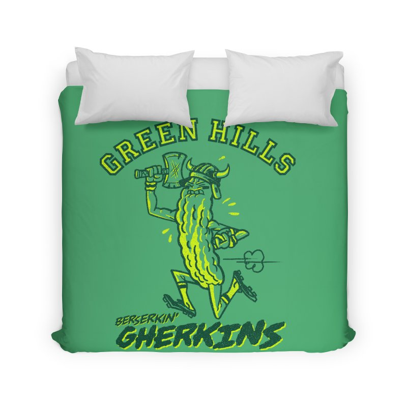 Berserkin' Gherkins Home Duvet by Gimetzco's Damaged Goods