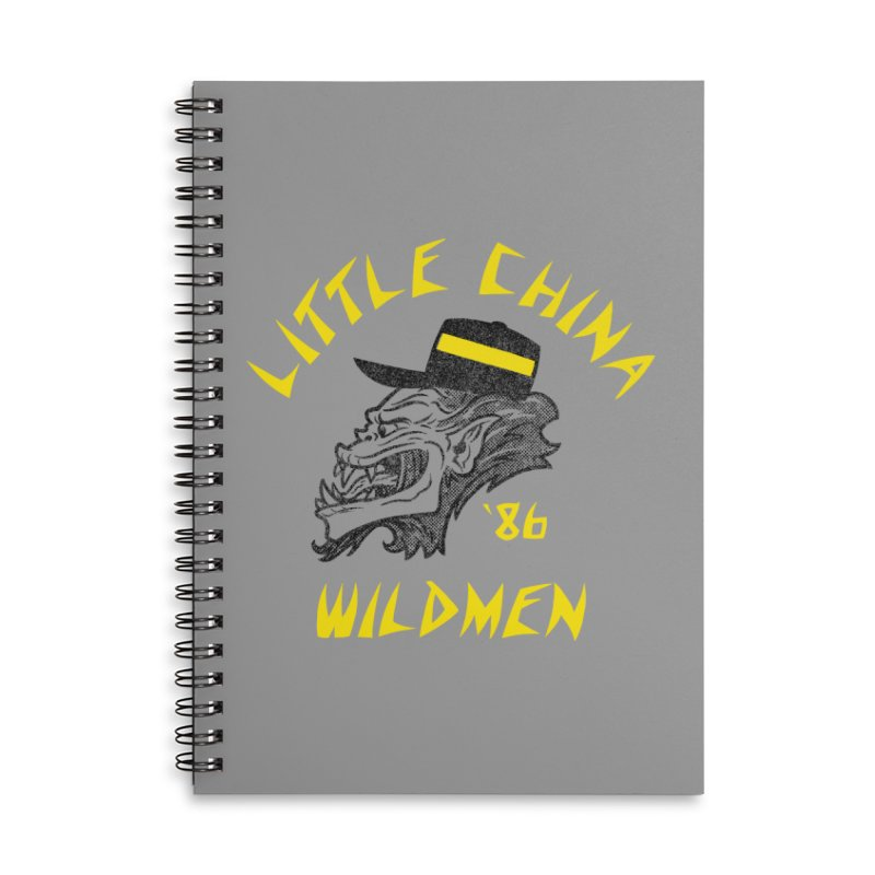Little China Wildmen Accessories Lined Spiral Notebook by Gimetzco's Damaged Goods