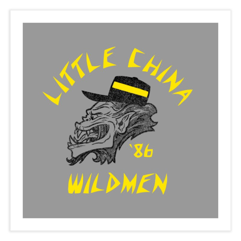 Little China Wildmen Home Fine Art Print by Gimetzco's Damaged Goods