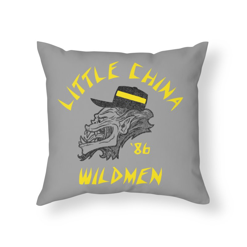 Little China Wildmen Home Throw Pillow by Gimetzco's Damaged Goods