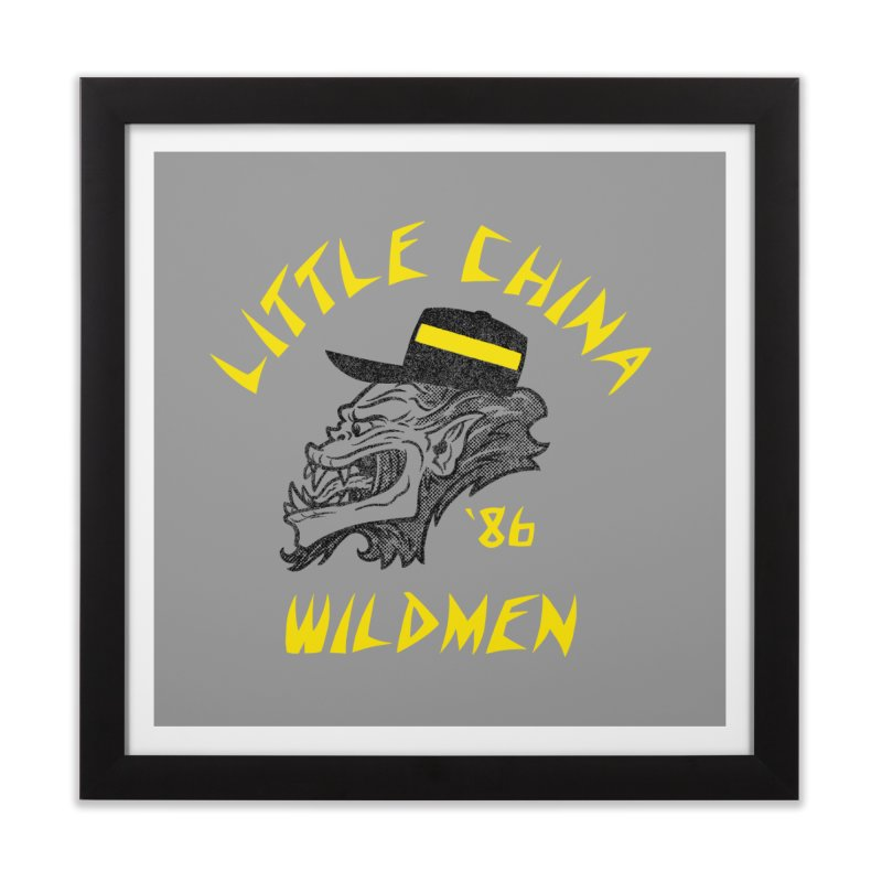 Little China Wildmen Home Framed Fine Art Print by Gimetzco's Damaged Goods