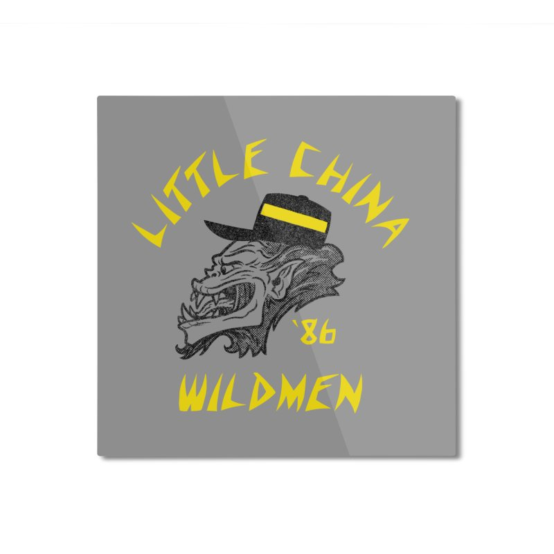 Little China Wildmen Home Mounted Aluminum Print by Gimetzco's Damaged Goods
