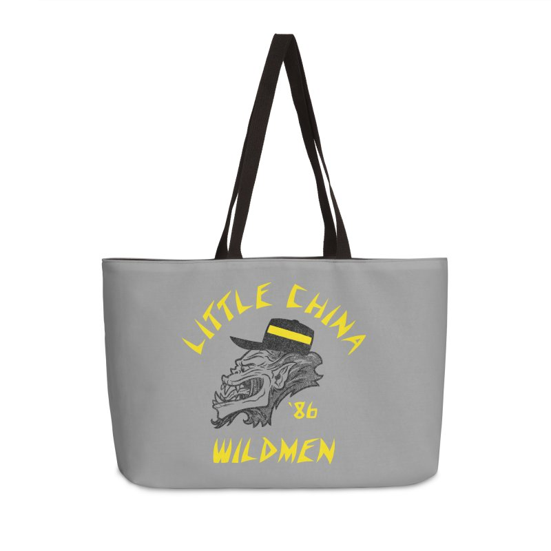 Little China Wildmen Accessories Weekender Bag Bag by Gimetzco's Damaged Goods