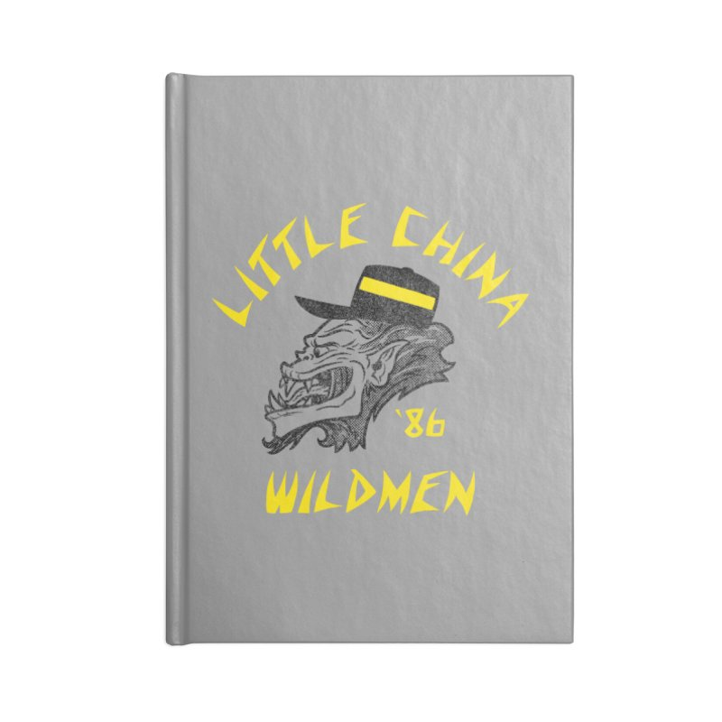 Little China Wildmen Accessories Lined Journal Notebook by Gimetzco's Damaged Goods