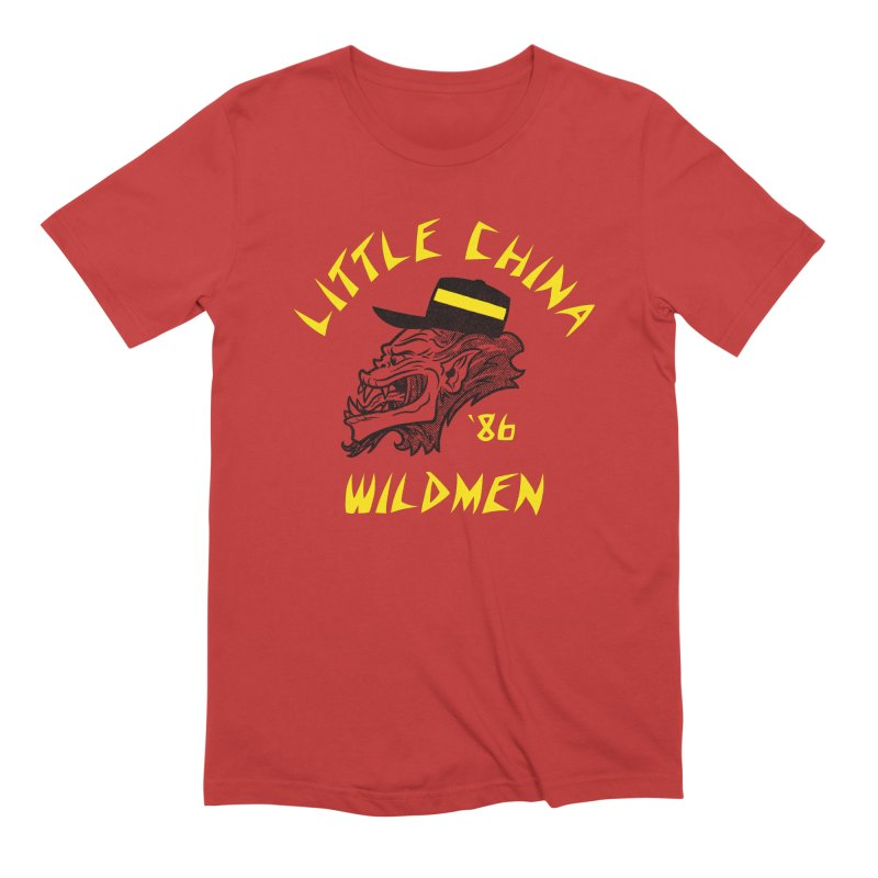 Little China Wildmen Men's Extra Soft T-Shirt by Gimetzco's Damaged Goods