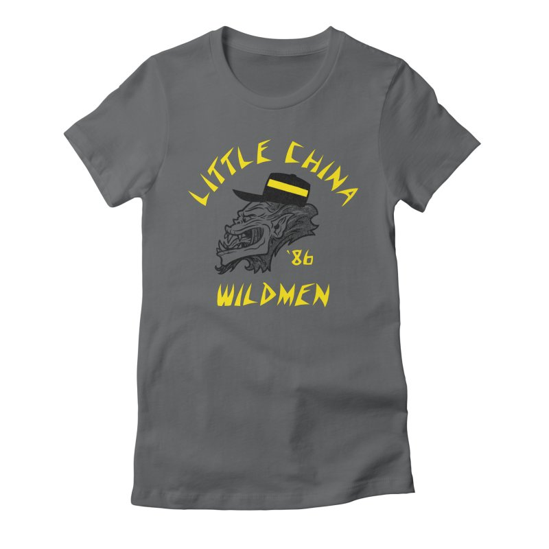 Little China Wildmen Women's Fitted T-Shirt by Gimetzco's Damaged Goods