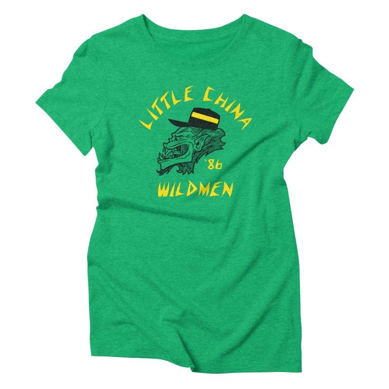 Little China Wildmen Women's Triblend T-Shirt by Gimetzco's Damaged Goods