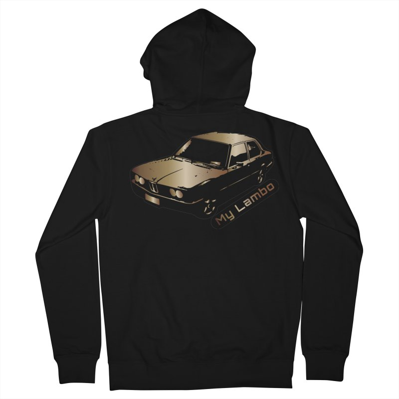 My Lambo Men's French Terry Zip-Up Hoody by ginetas's Artist Shop
