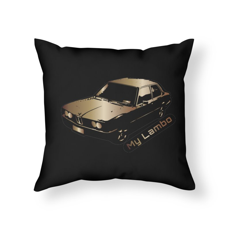 My Lambo Home Throw Pillow by ginetas's Artist Shop