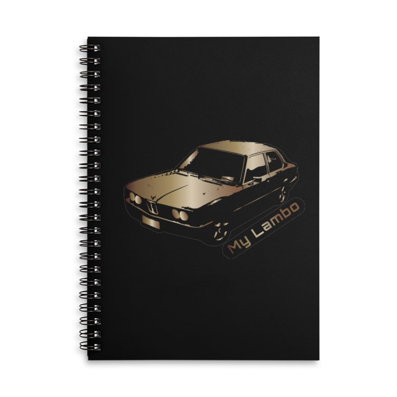 My Lambo Accessories Lined Spiral Notebook by ginetas's Artist Shop
