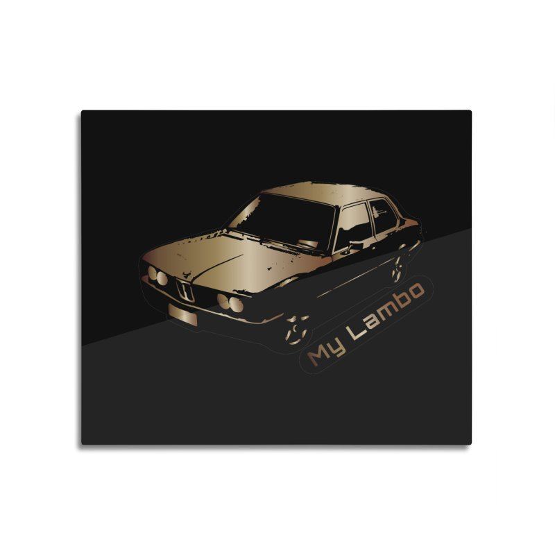 My Lambo Home Mounted Aluminum Print by ginetas's Artist Shop