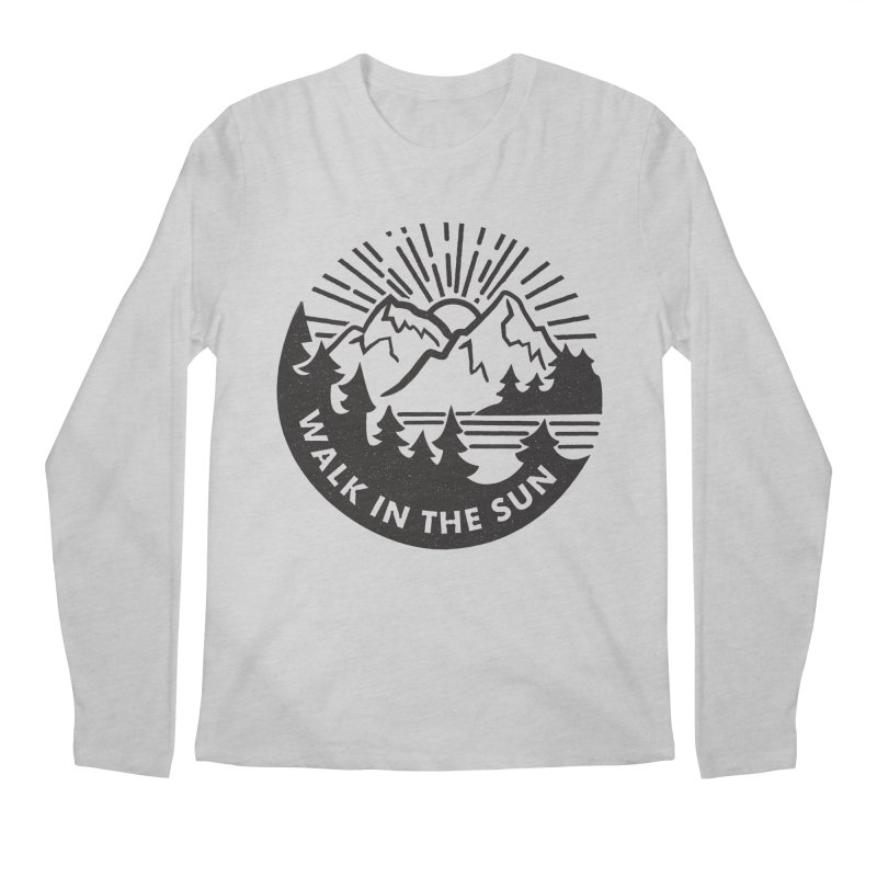 Walk in the sun Men's Regular Longsleeve T-Shirt by rad mountain designs by Ginette
