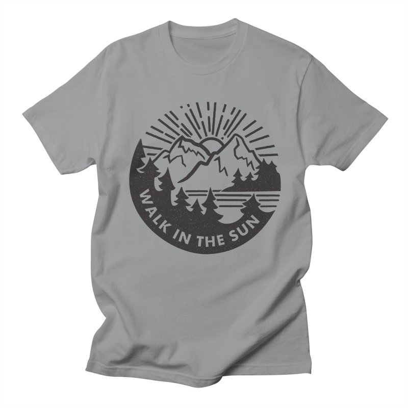 Walk in the sun Men's Regular T-Shirt by rad mountain designs by Ginette