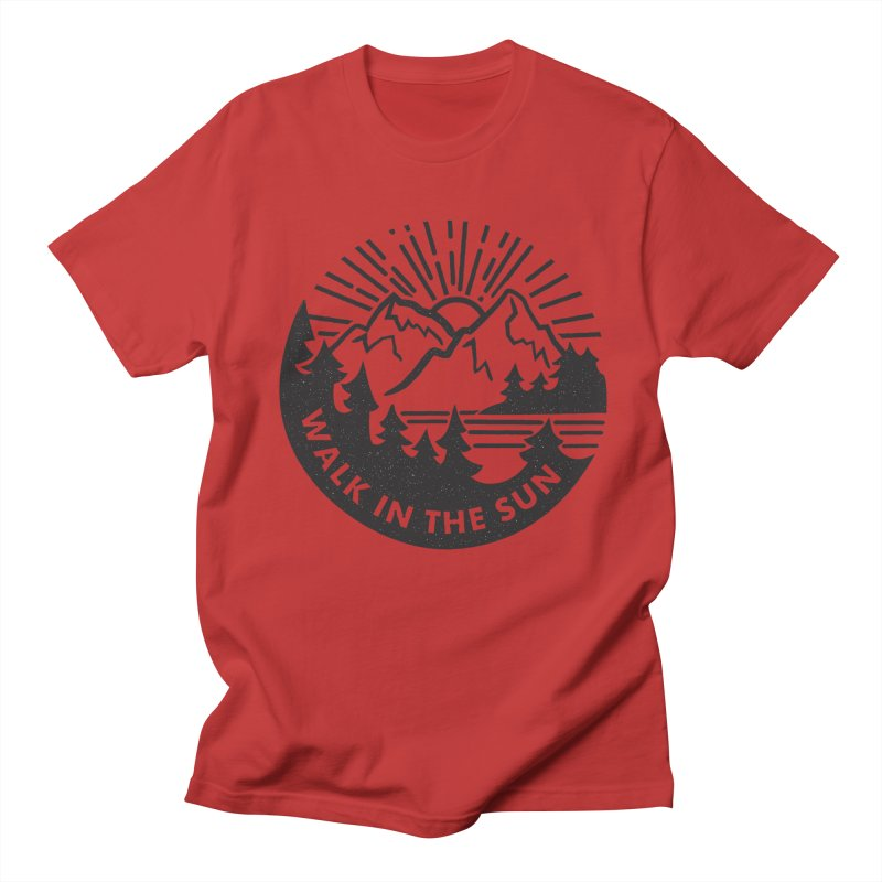 Walk in the sun Women's Unisex T-Shirt by rad mountain designs by Ginette