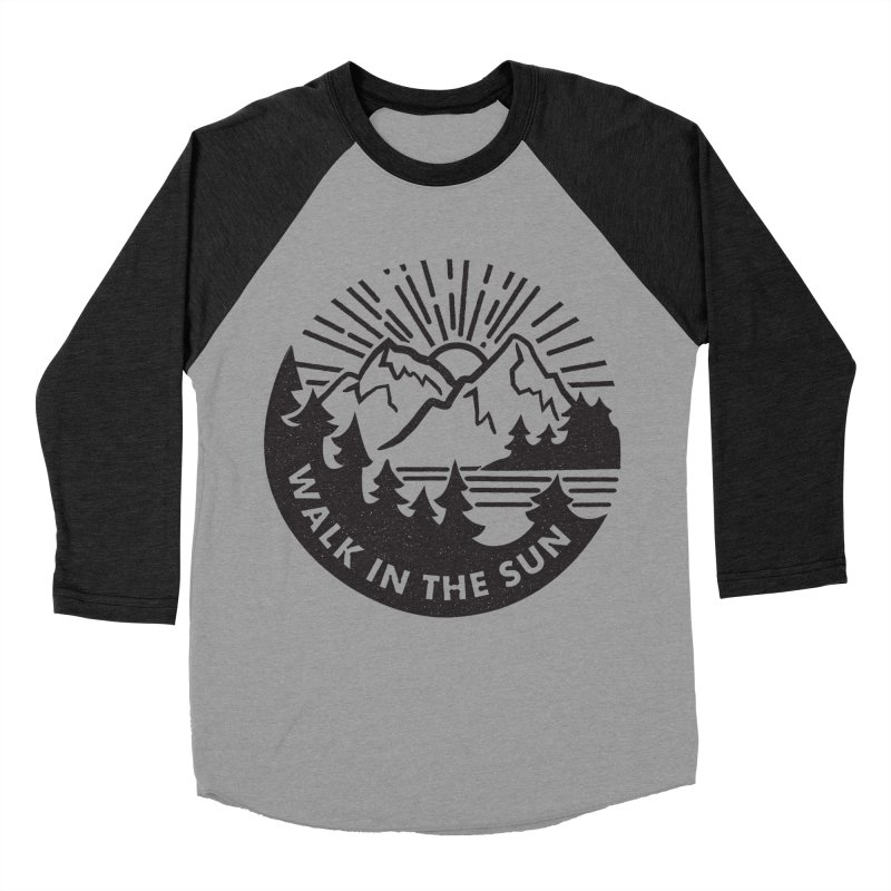 Walk in the sun Men's Baseball Triblend T-Shirt by rad mountain designs by Ginette