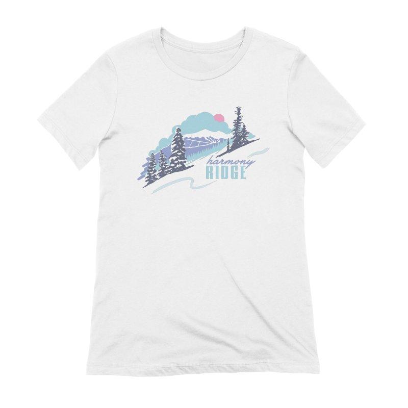 Harmony Ridge Women's T-Shirt by rad mountain designs by Ginette