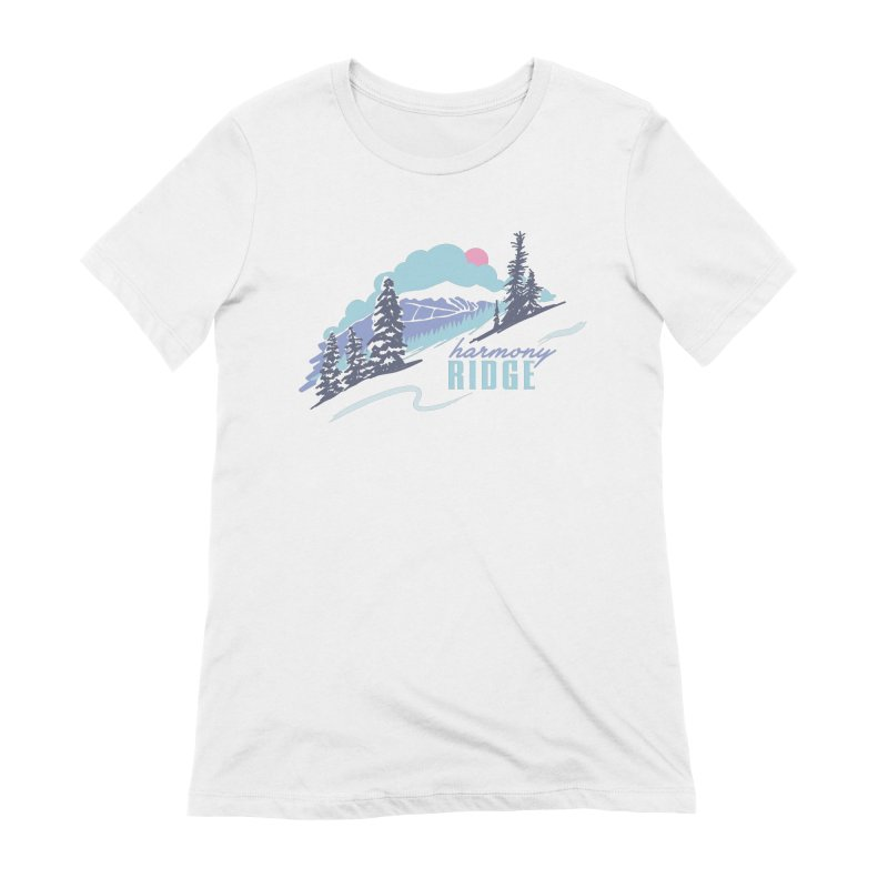Harmony Ridge Women's Extra Soft T-Shirt by rad mountain designs by Ginette