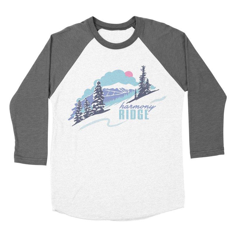 Harmony Ridge Women's Baseball Triblend Longsleeve T-Shirt by rad mountain designs by Ginette