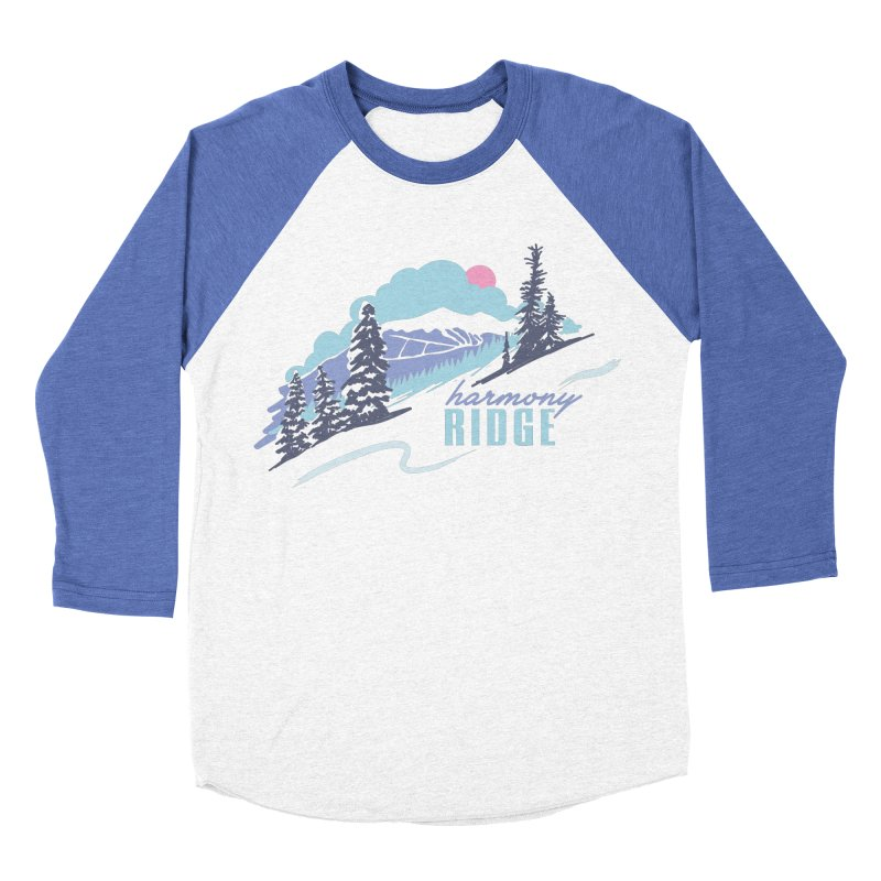 Harmony Ridge Men's Baseball Triblend Longsleeve T-Shirt by rad mountain designs by Ginette