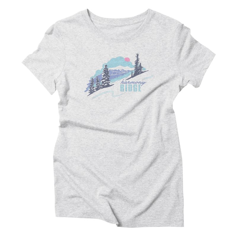 Harmony Ridge Women's Triblend T-Shirt by rad mountain designs by Ginette