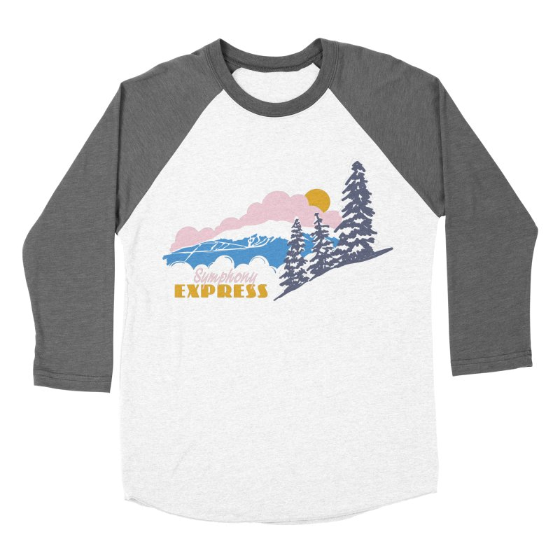 Symphony Express Women's Baseball Triblend Longsleeve T-Shirt by rad mountain designs by Ginette