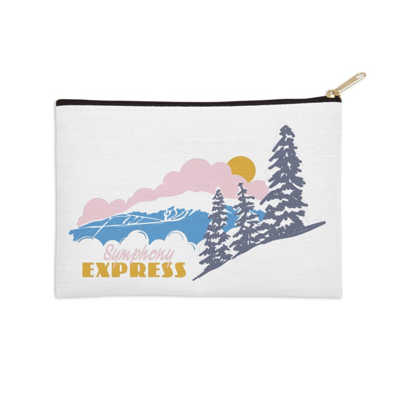 Symphony Express Accessories Zip Pouch by rad mountain designs by Ginette