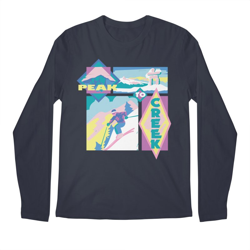 Peak to creek Men's Longsleeve T-Shirt by rad mountain designs by Ginette