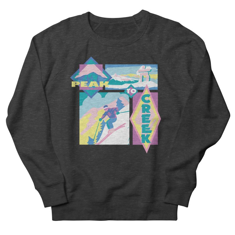 Peak to creek Men's Sweatshirt by rad mountain designs by Ginette