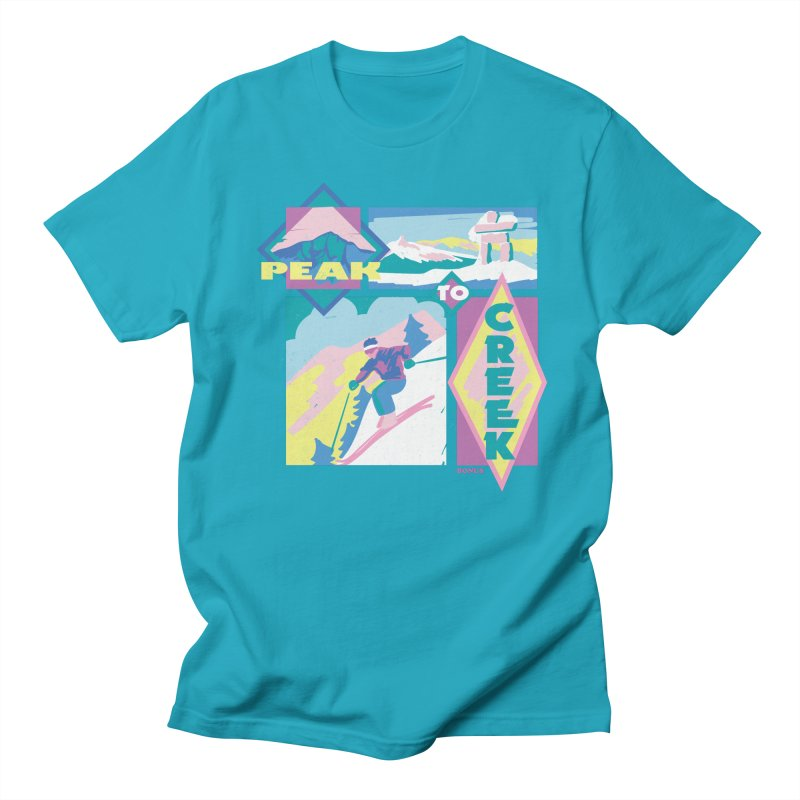 Peak to creek Men's T-Shirt by rad mountain designs by Ginette
