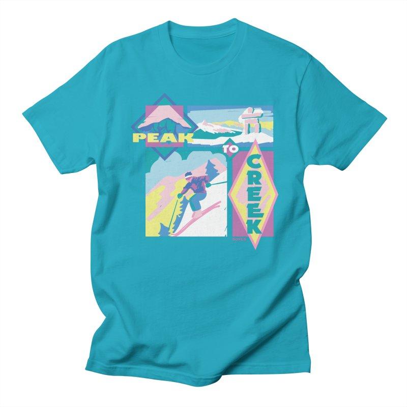 Peak to creek Men's Regular T-Shirt by rad mountain designs by Ginette