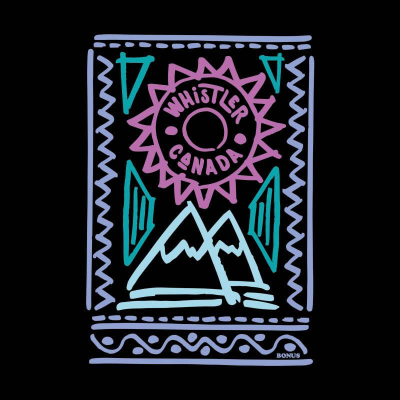 Whistler Blackcomb Retro by rad mountain designs by Ginette