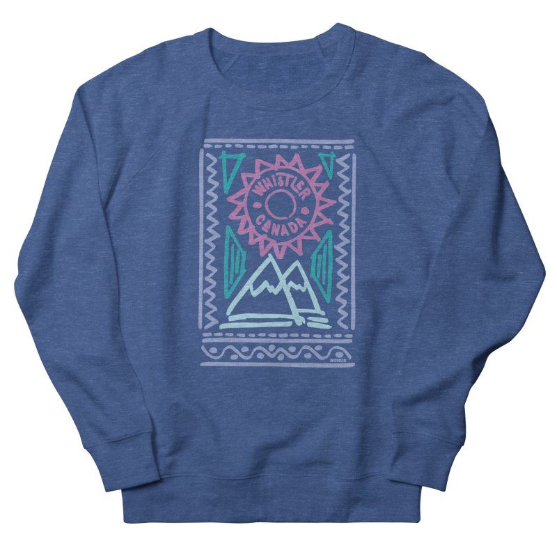 Whistler Blackcomb Retro Women's Sweatshirt by rad mountain designs by Ginette
