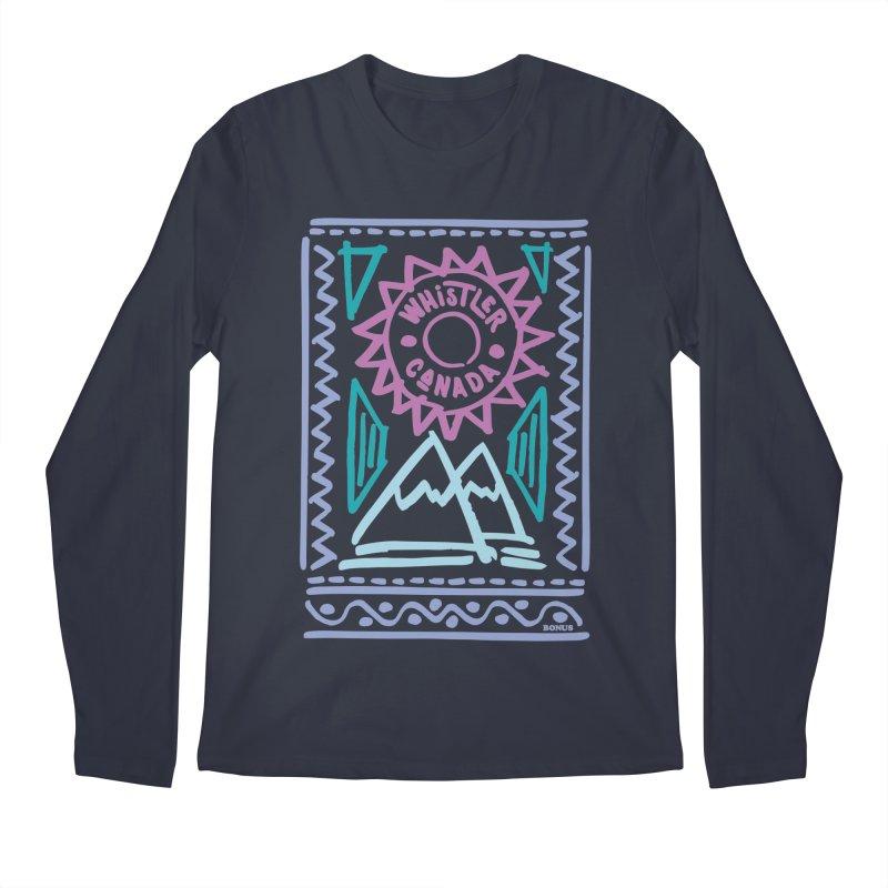 Whistler Blackcomb Retro Men's Regular Longsleeve T-Shirt by rad mountain designs by Ginette